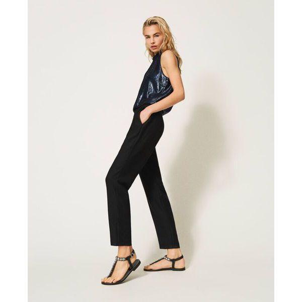 7. Sequined jumpsuit Blue-black Twin Set