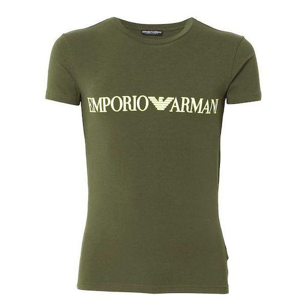 1. T-shirt with logo Khaki Emporio Armani