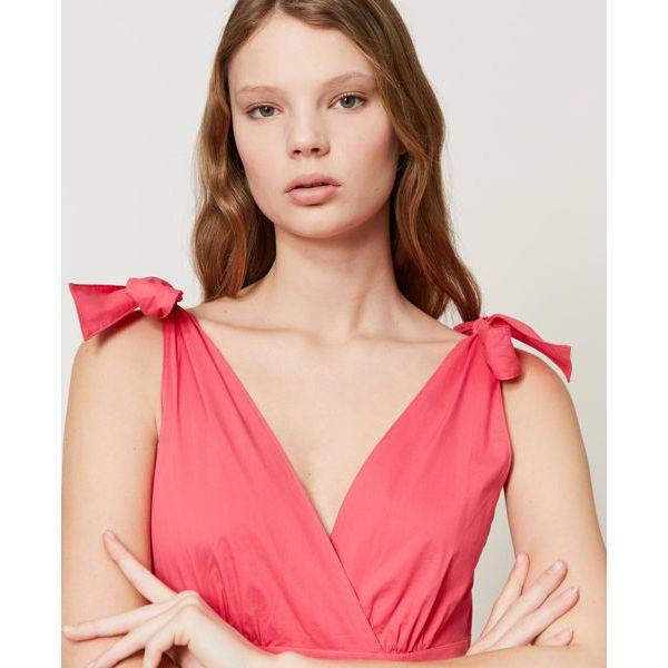 4. Knot dress Cherry pink Twin Set