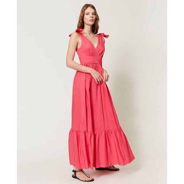 2. Knot dress Cherry pink Twin Set