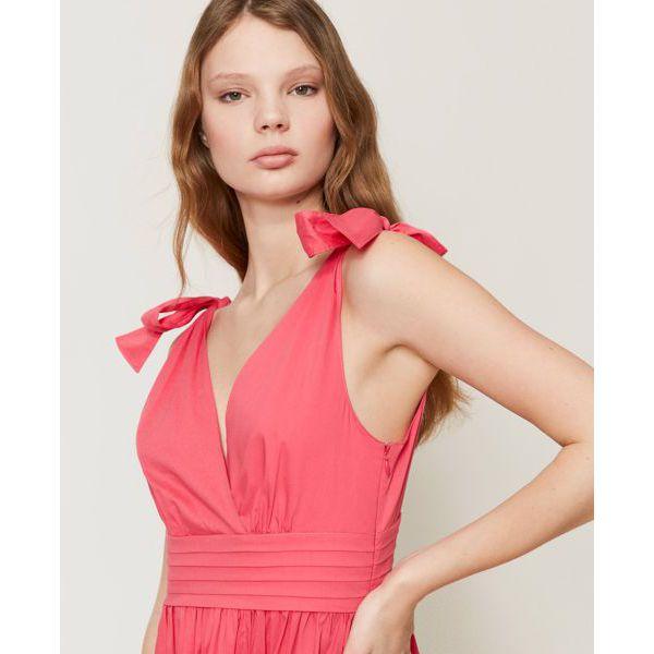 5. Knot dress Cherry pink Twin Set