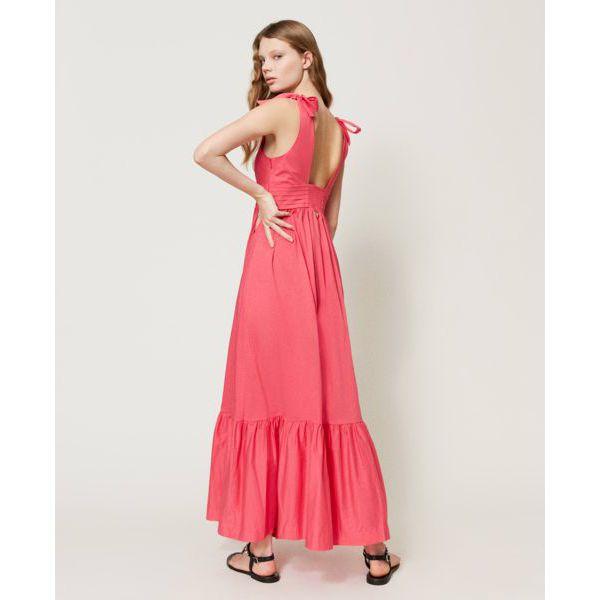 3. Knot dress Cherry pink Twin Set