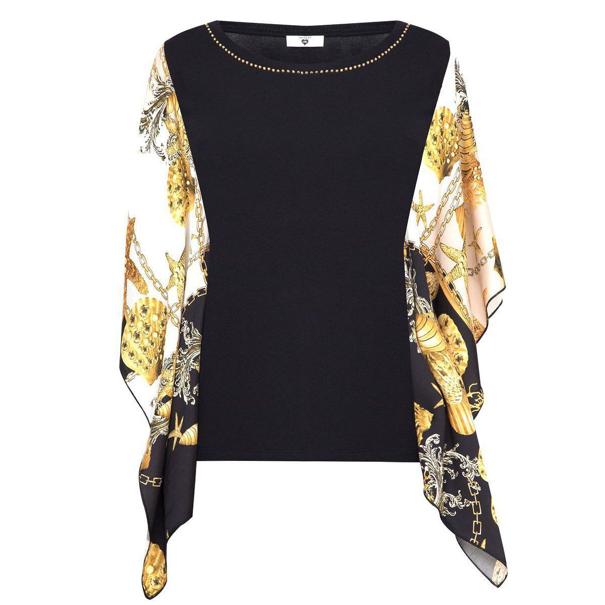 1. Shell blouse Black Twin Set