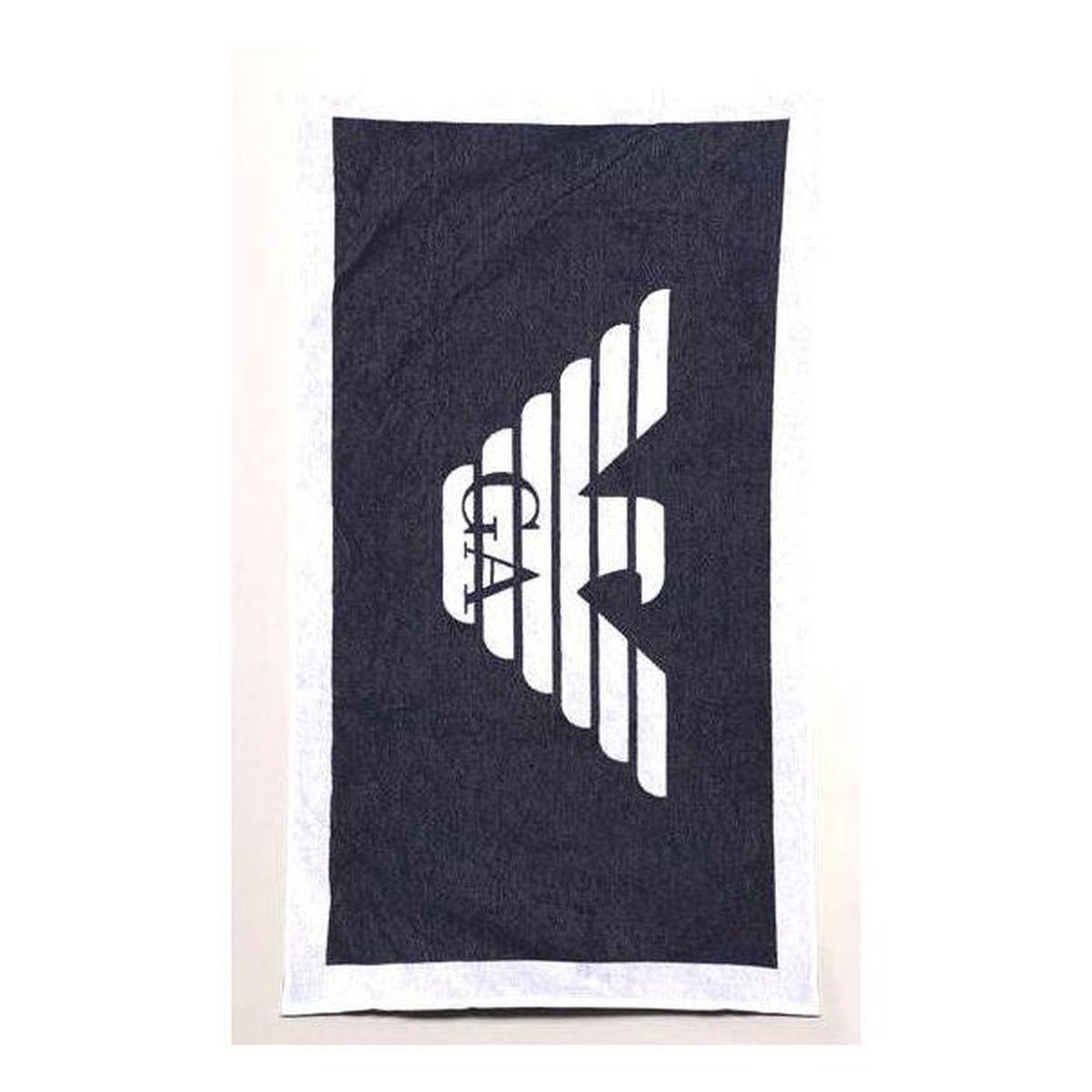 1. Maxi logo towel Blue-white Emporio Armani