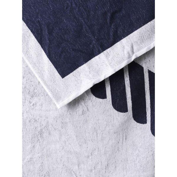 2. Maxi logo towel Blue-white Emporio Armani