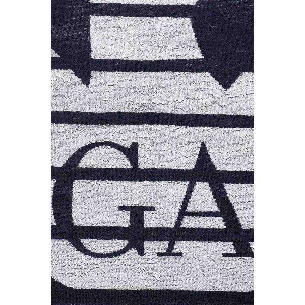 3. Maxi logo towel Blue-white Emporio Armani