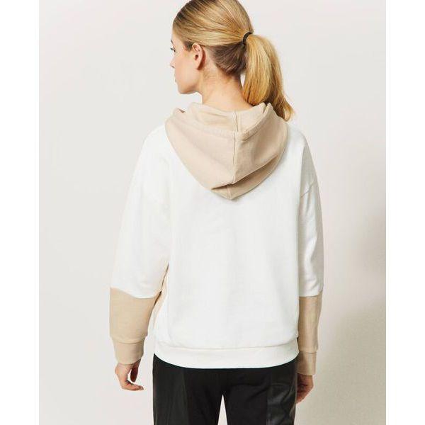 4. Two-tone sweatshirt Ivory-milkshake Twin Set