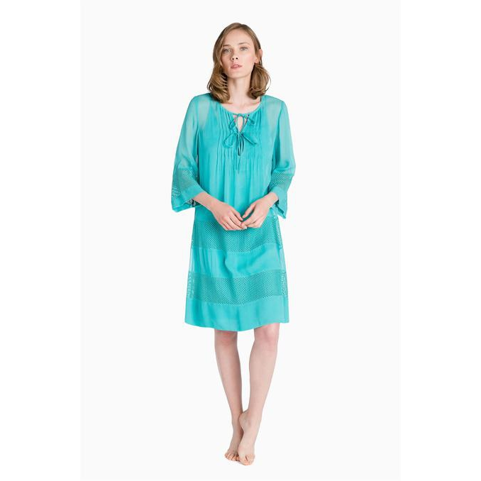 NET SHORT KAFTAN Mediterranee Green Twin Set