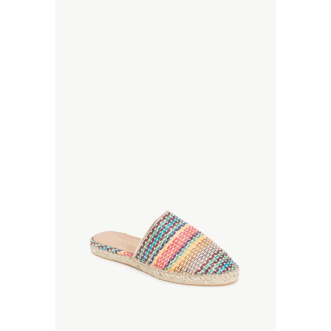 STRIPED SLIPPERS Multicolor Twin Set