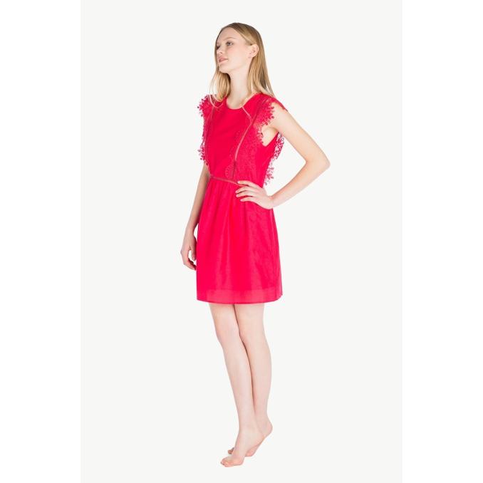 LACE DRESS Red Twin Set