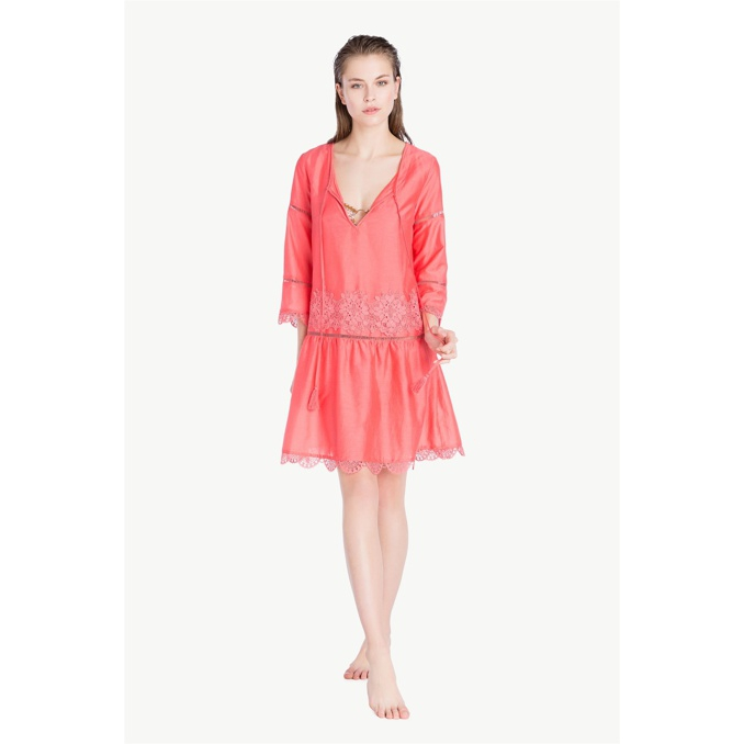 LACE KAFTAN Pink vegas Twin Set