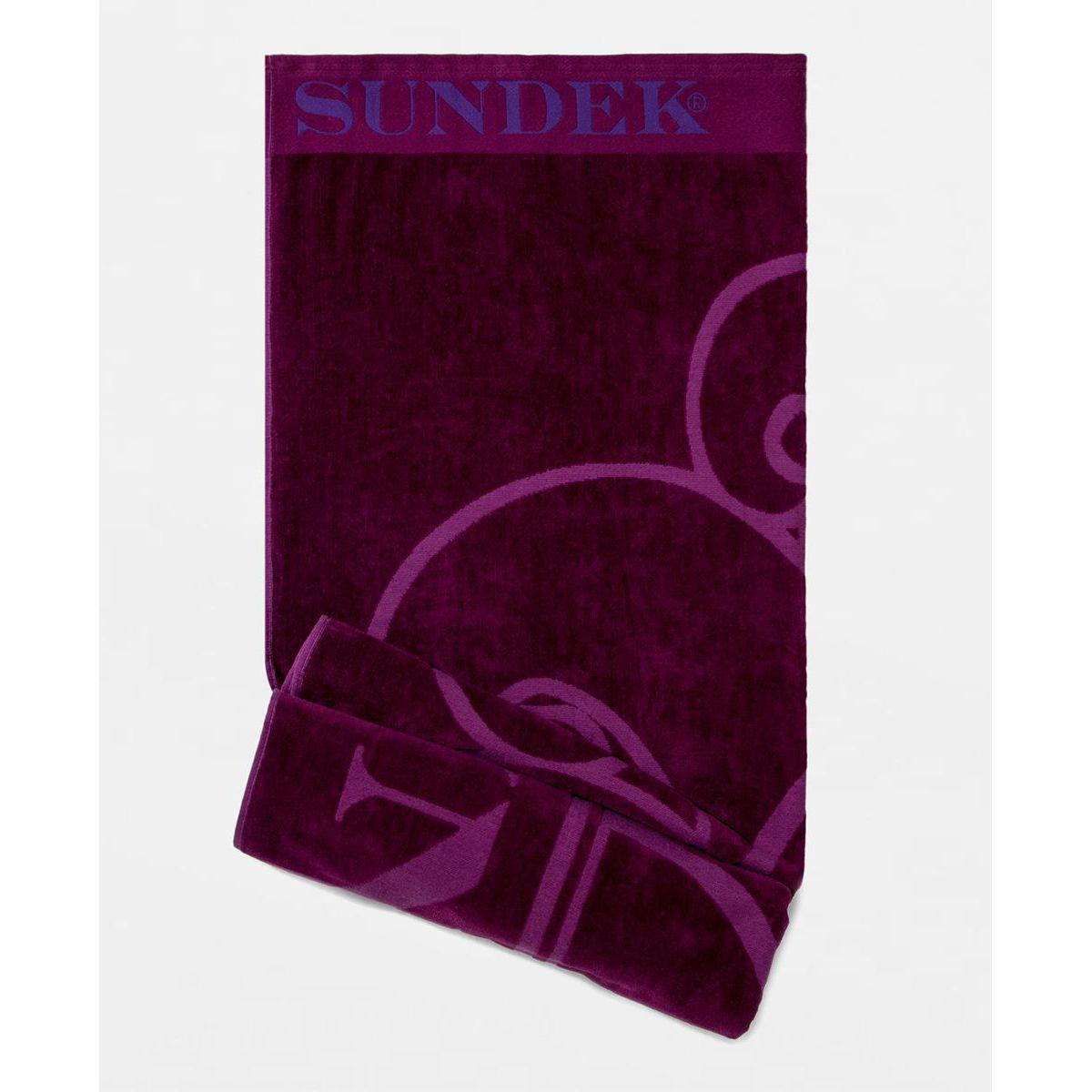 1. Beach towel s. Deep orchid Sundek
