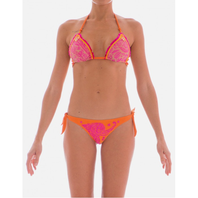 EMBROIDERED BIKINI Fuxia Pin Up