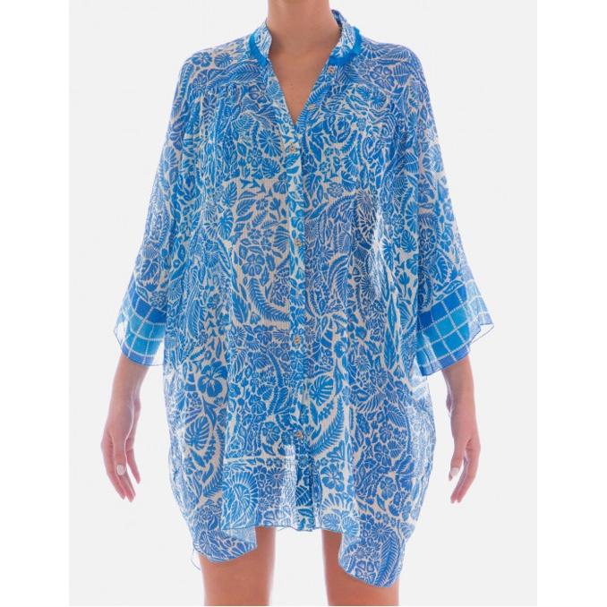 SHIRT DRESS Turquoise Pin Up