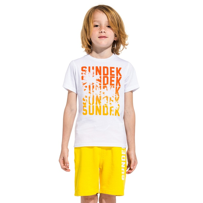 1. T-SHIRT White Sundek