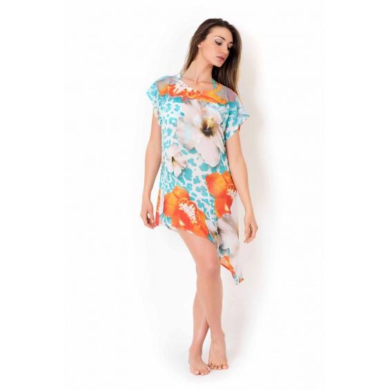 SHORT DRESS Turquoise Vacanze Italiane