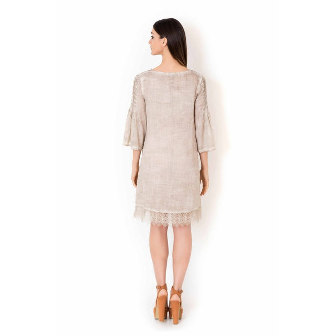 DRESS Beige Iconique