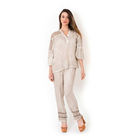 1. BLOUSE AND TROUSERS Beige Iconique