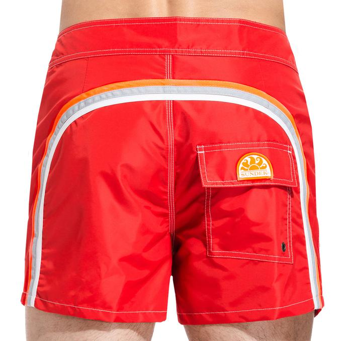 Boardshort low rise Fire red Sundek