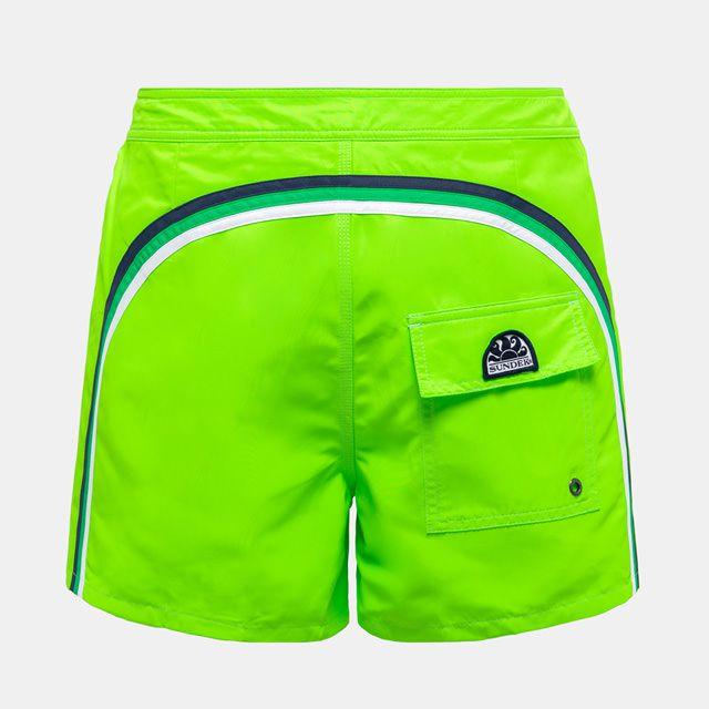 Boardshort low rise Fluo green 11 Sundek