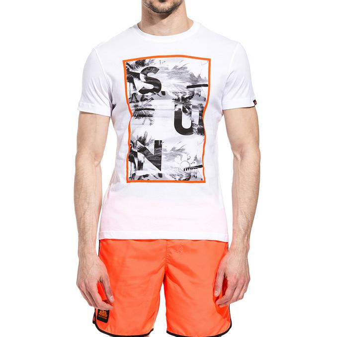 T-SHIRT MIAMI DREAM PRINT White Sundek