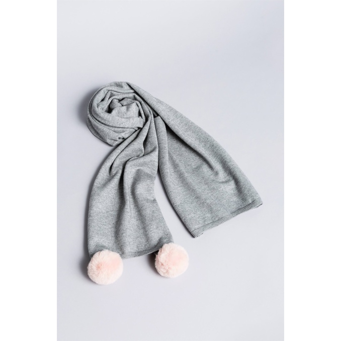 SCARF Grey Twin Set