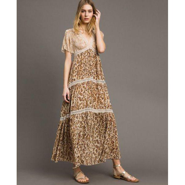 Long dress Brown Twin Set