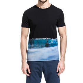 1. SURFER PRINT T-SHIRT Black Sundek