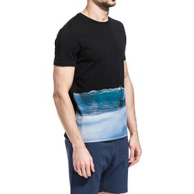 3. SURFER PRINT T-SHIRT Black Sundek