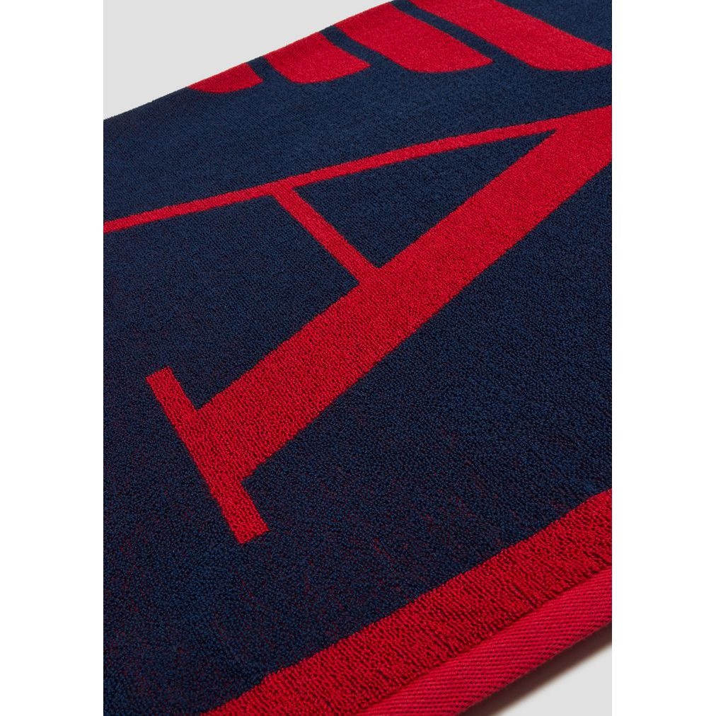 Towel Blue/red Emporio Armani