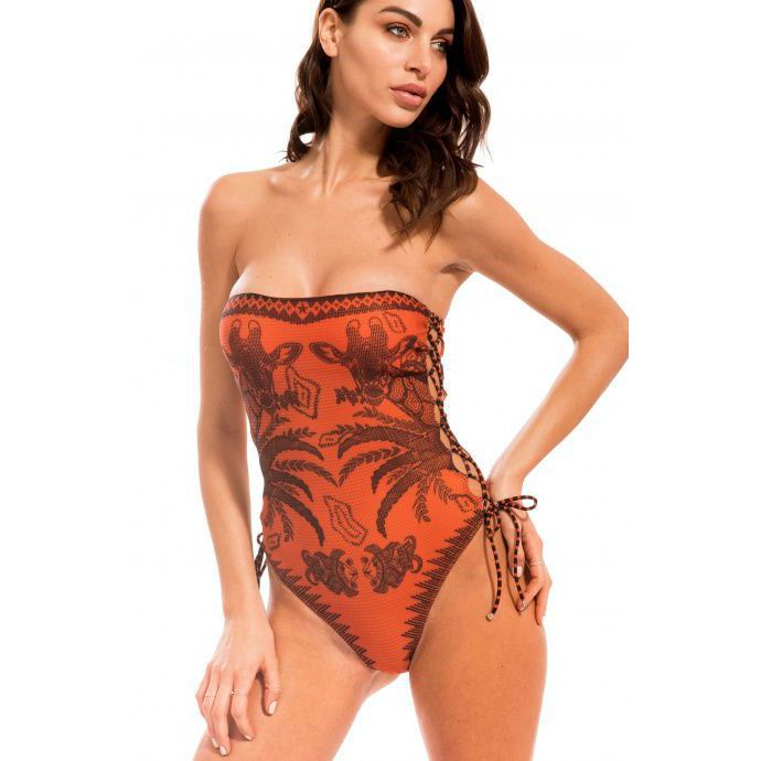 Swimsuit Orange Pin Up