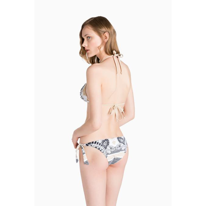 PRINTED TRIANGLE BIKINI Ivory Twin Set