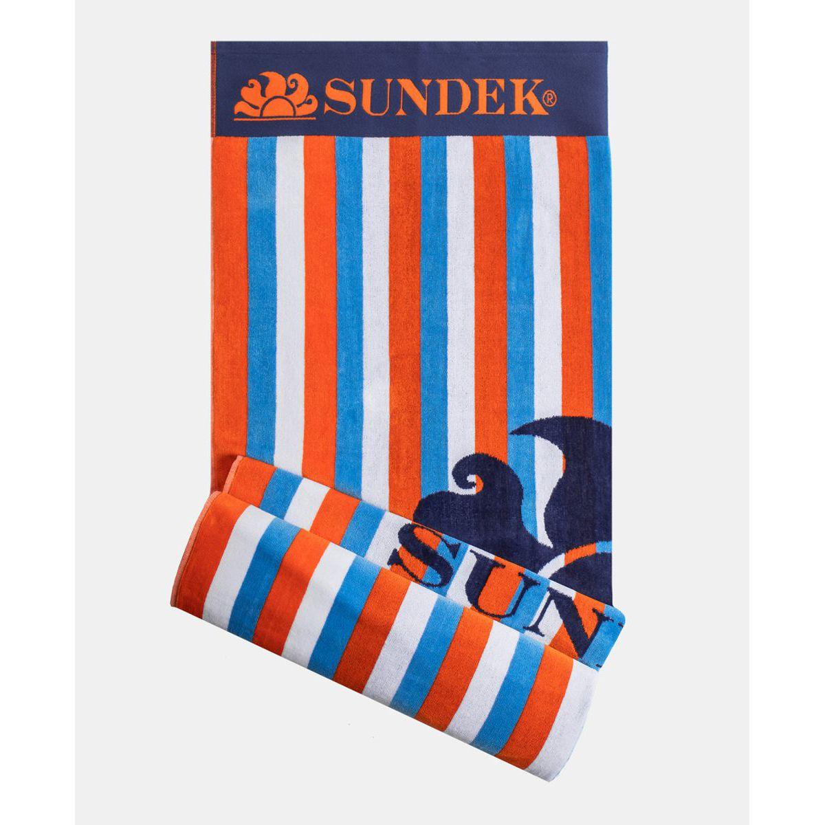 Striped towel Orange Sundek