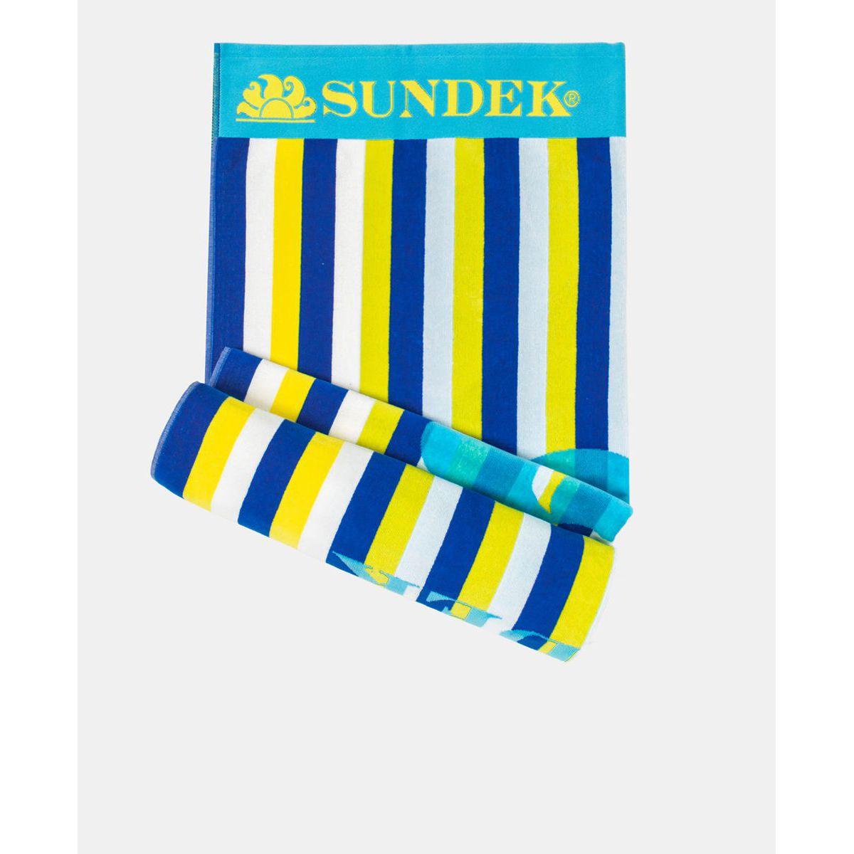 Striped towel Light blue Sundek