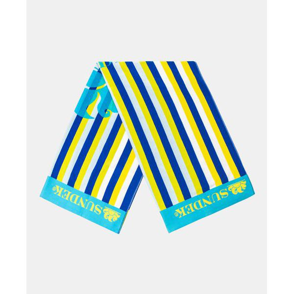 2. Striped towel Light blue Sundek