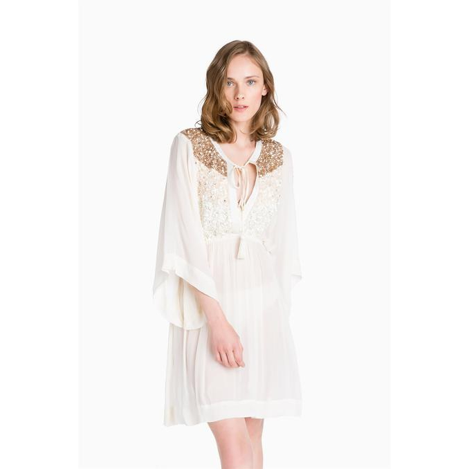 SHORT KAFTAN EMBROIDERY Ivory Twin Set