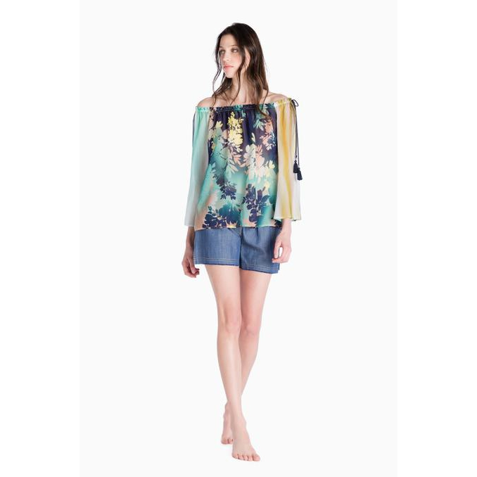 PRINT BLUSA Blue galassia Twin Set
