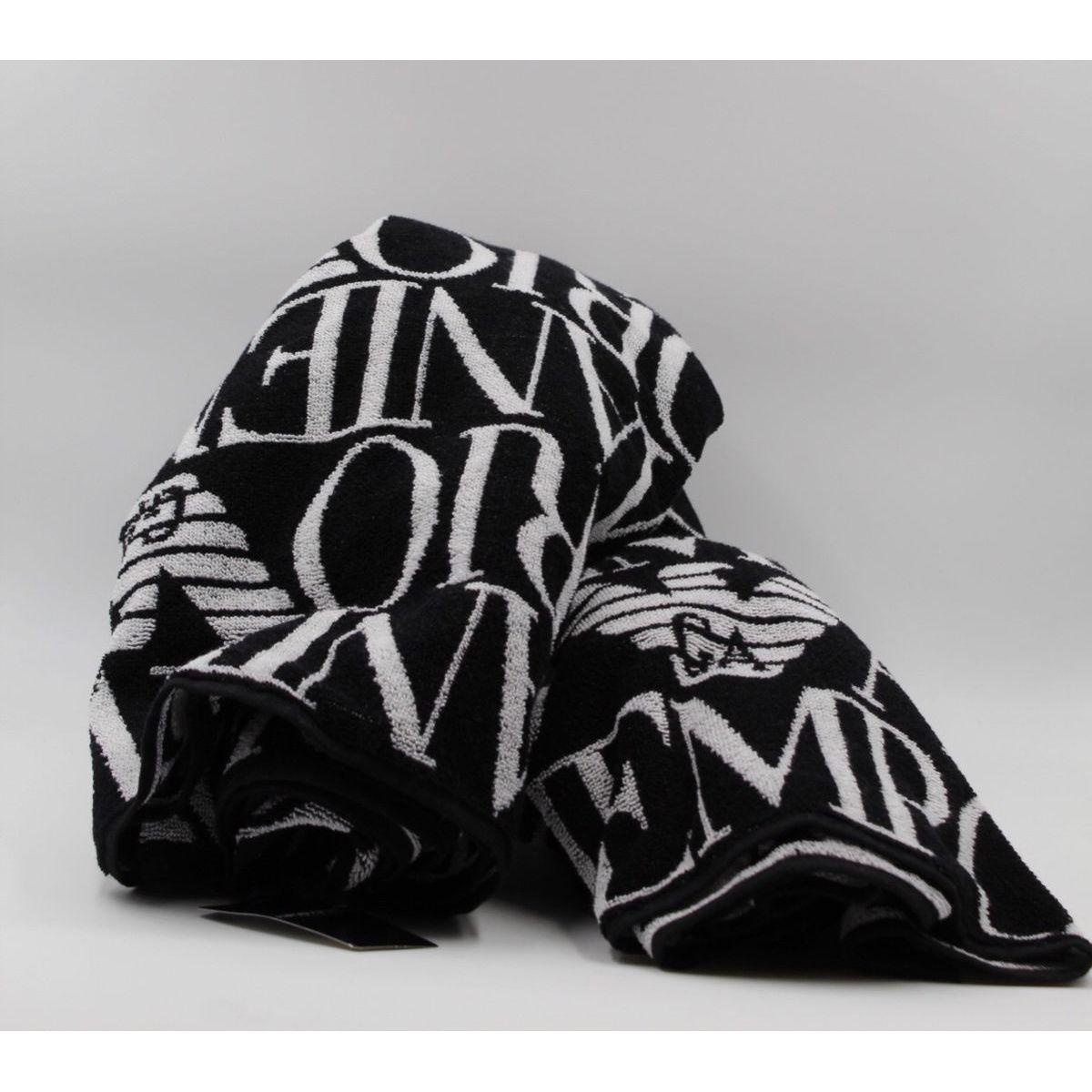 Logo towel Black Emporio Armani
