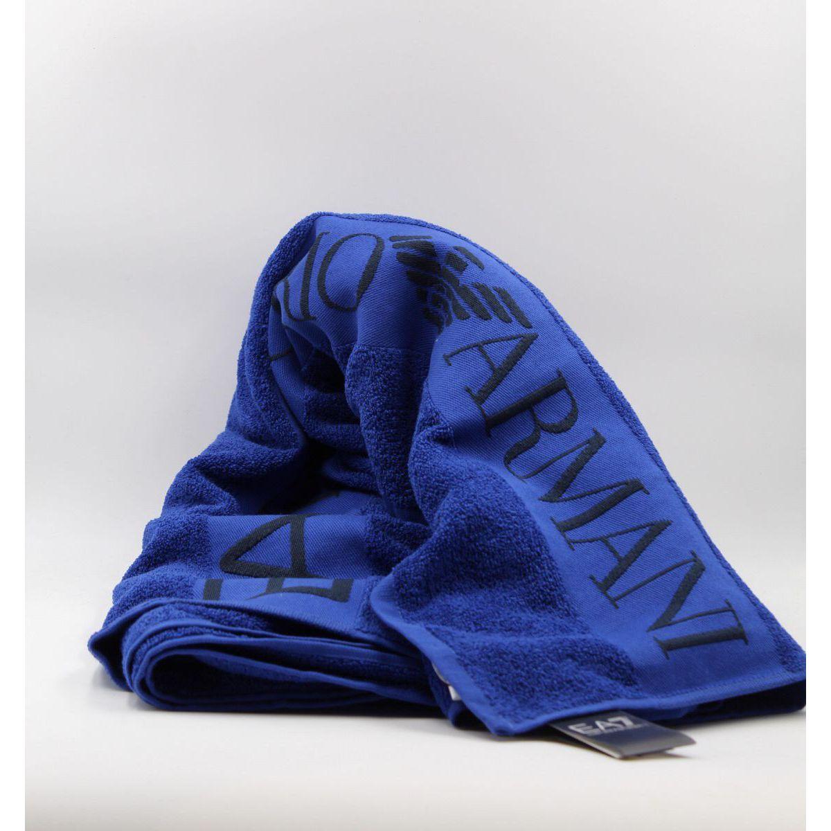 EA7 towel Light blue Emporio Armani