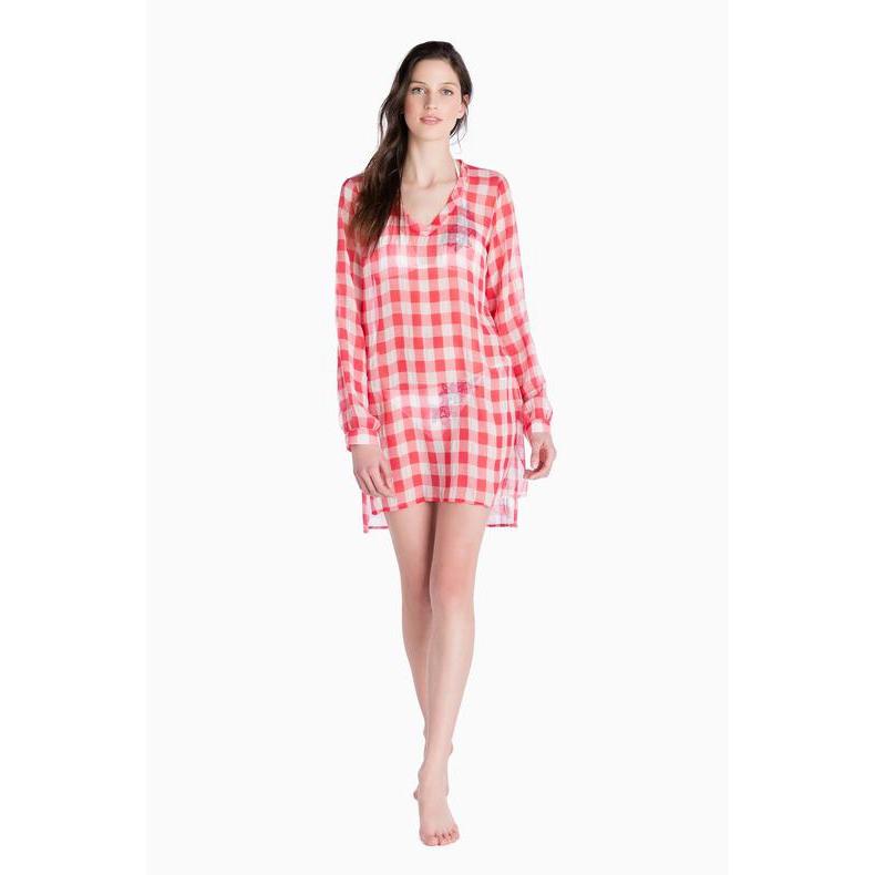 VICHY DRESS Red / White Twin Set