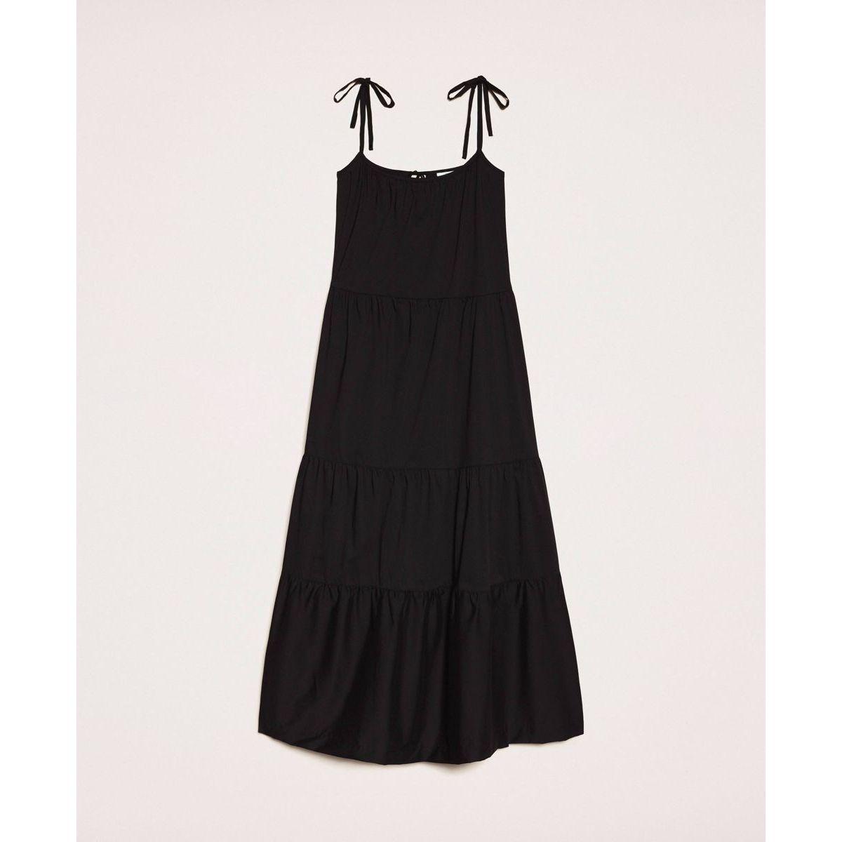 Long dress flounces Black Twin Set