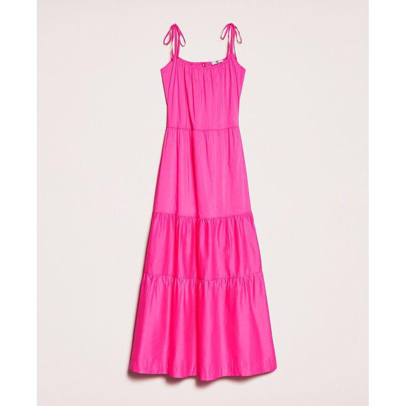 Long dress flounces Fuxia Twin Set