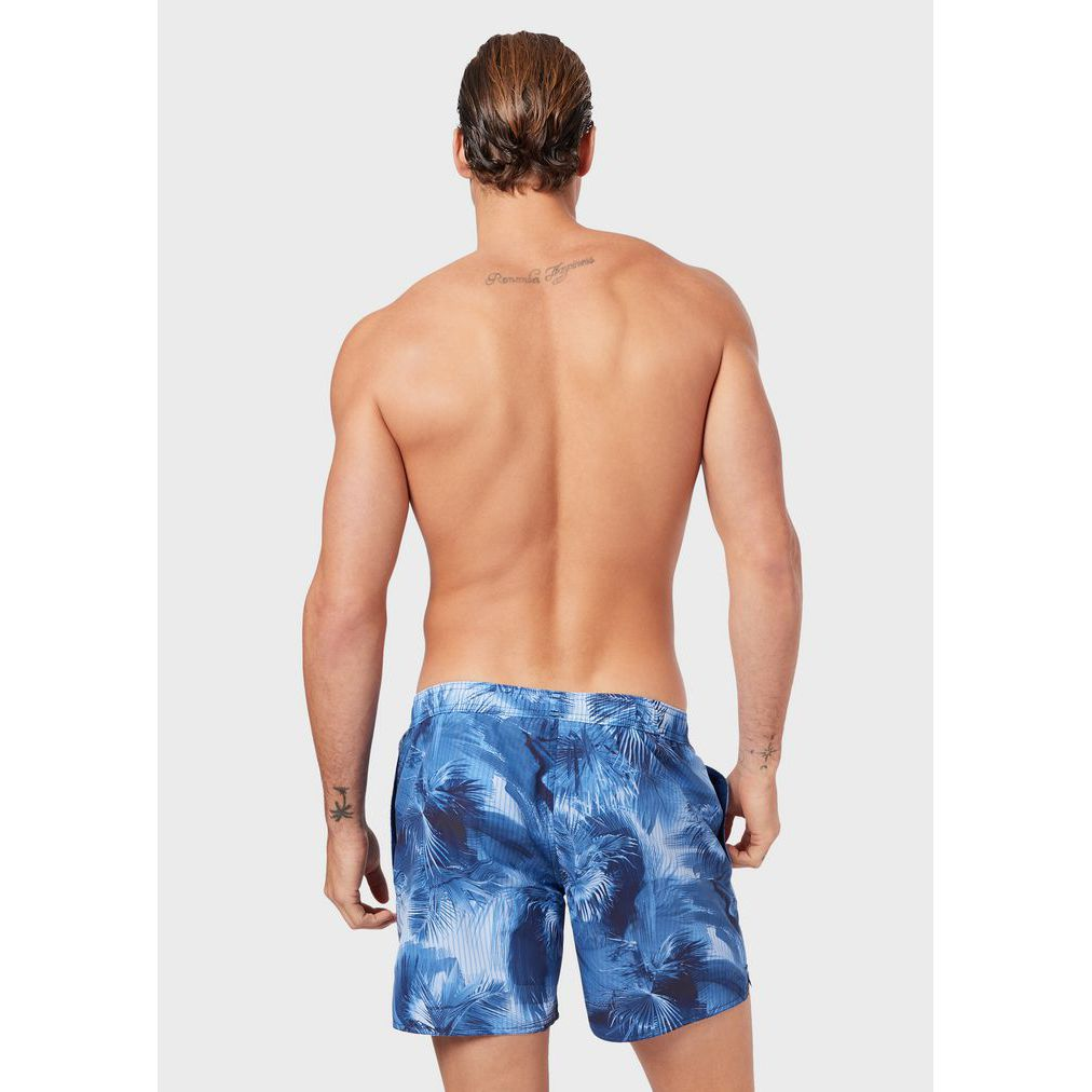 Tropical swim shorts Blue palmas p. Emporio Armani