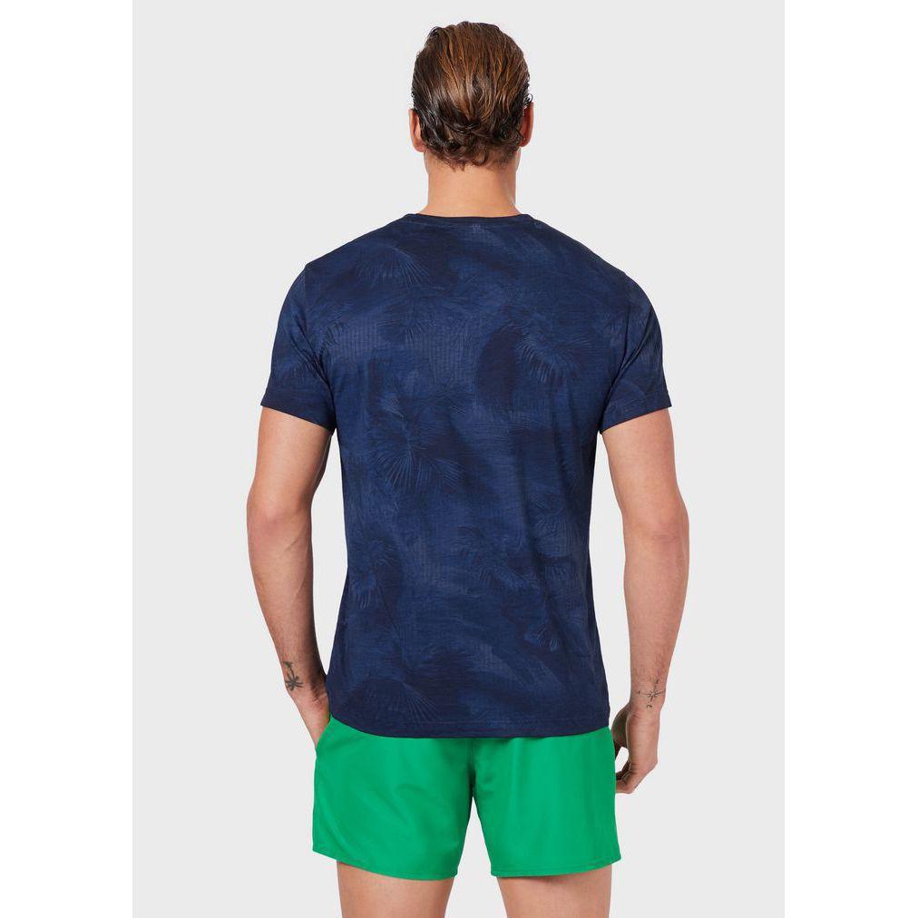 Tropical t-shirt Blue Emporio Armani