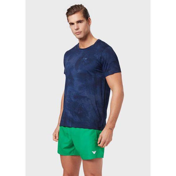 3. Tropical t-shirt Blue Emporio Armani