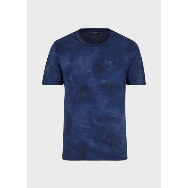 1. Tropical t-shirt Blue Emporio Armani
