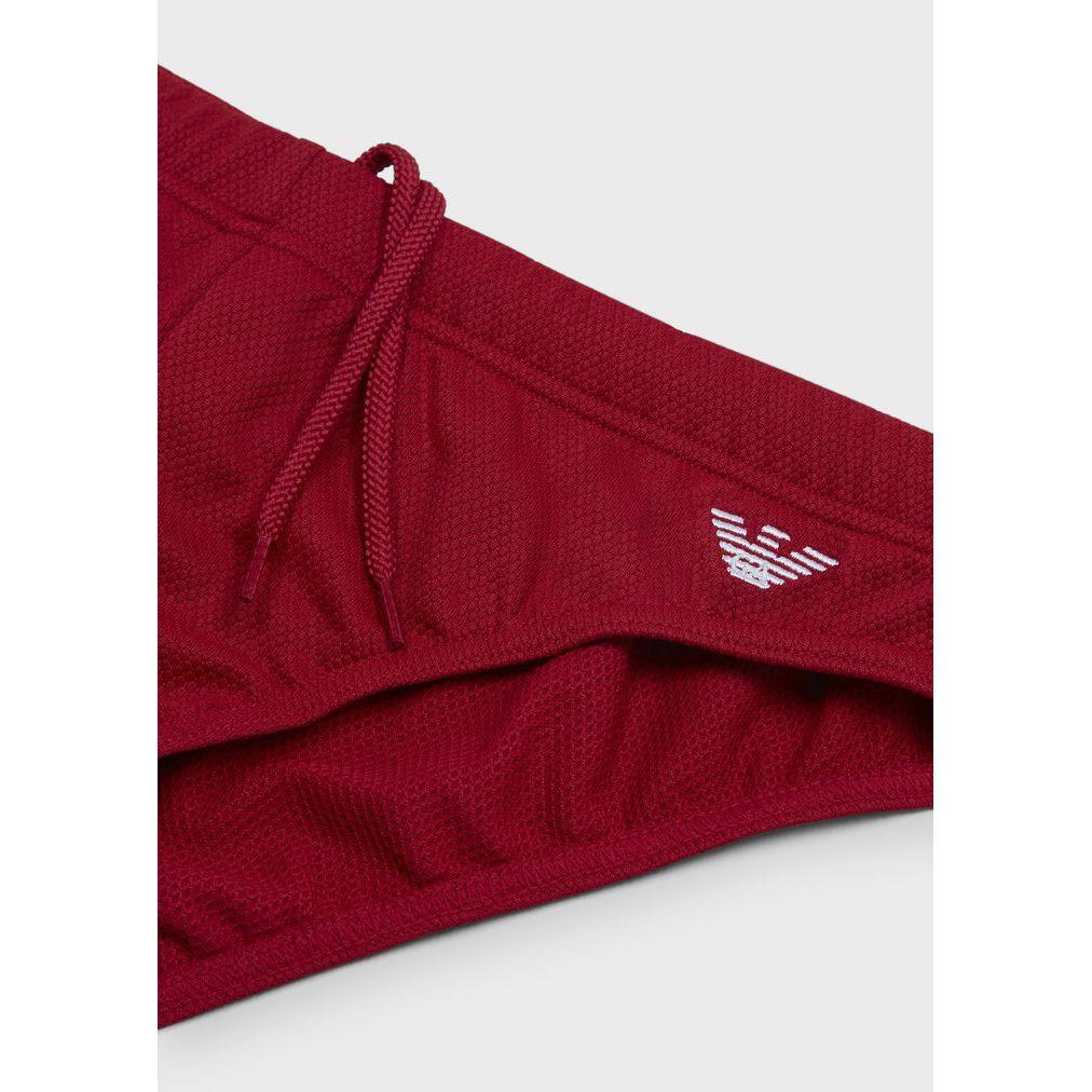swimsuit man piquet Red Emporio Armani