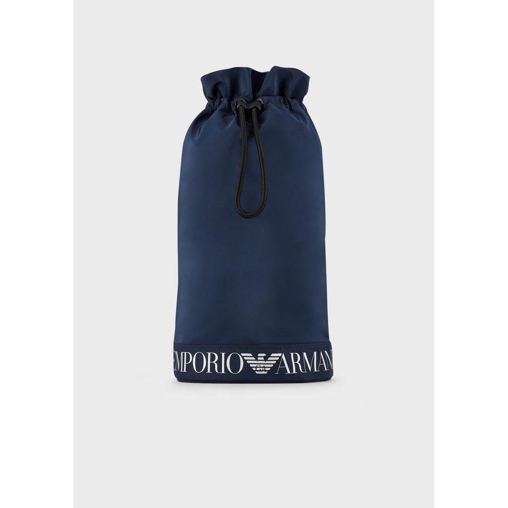 Nylon bag Blue Emporio Armani