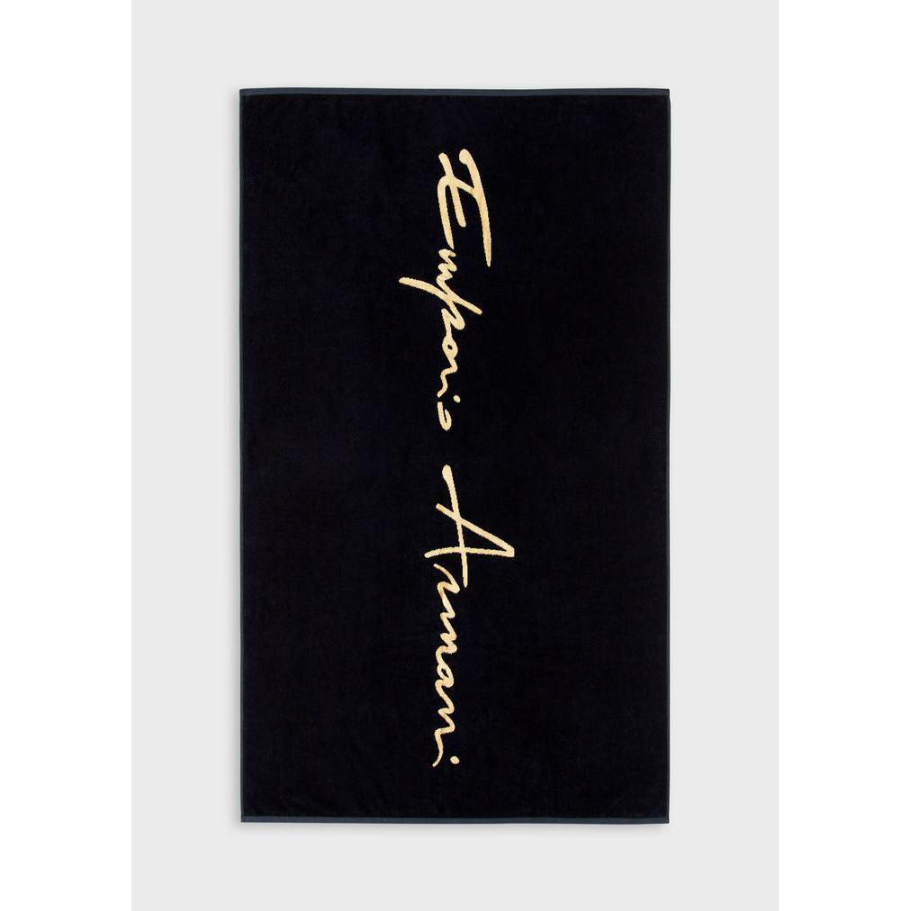 Logo  Armani towel Black Emporio Armani