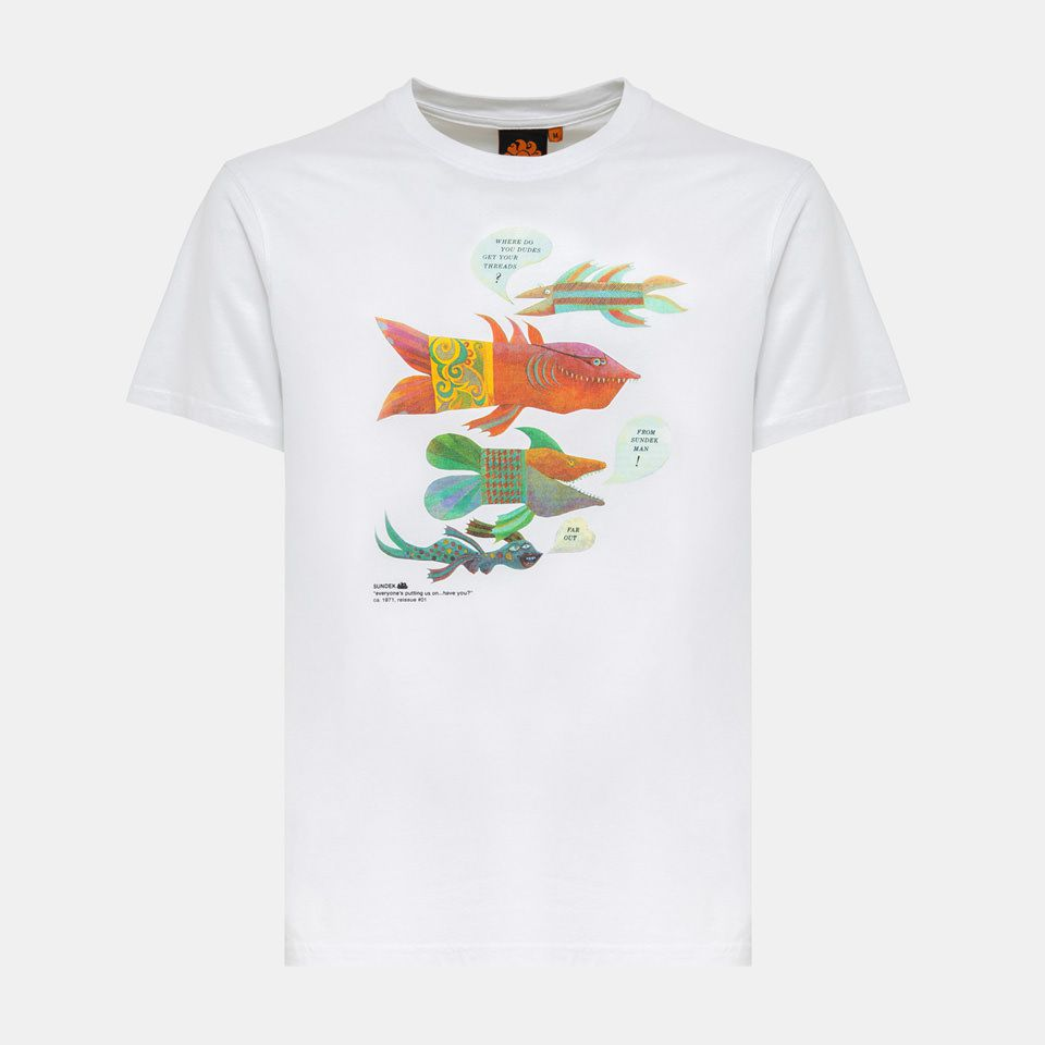 1. Fish t-shirt White Sundek